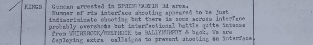Casual Collusion - Loyalist Gunman Arrested in Springmartin