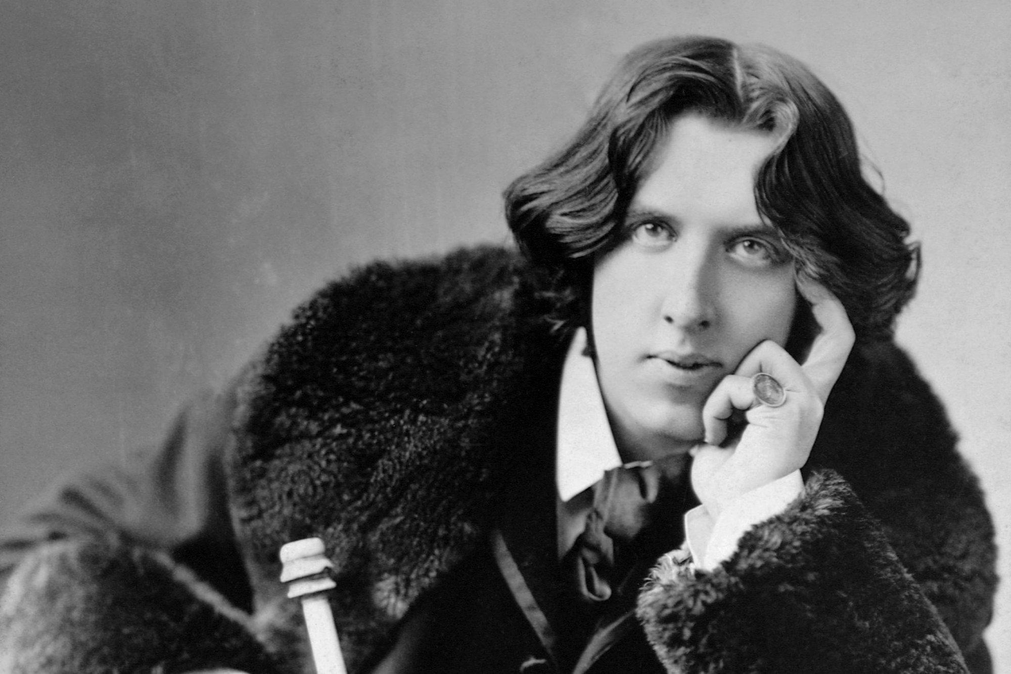 A pensive Oscar Wilde