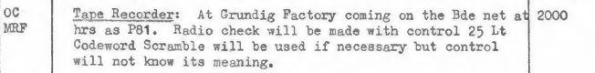 MRF OC at the Grundig factory